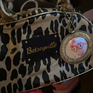 Betsey Johnson Leopard Makeup Bag